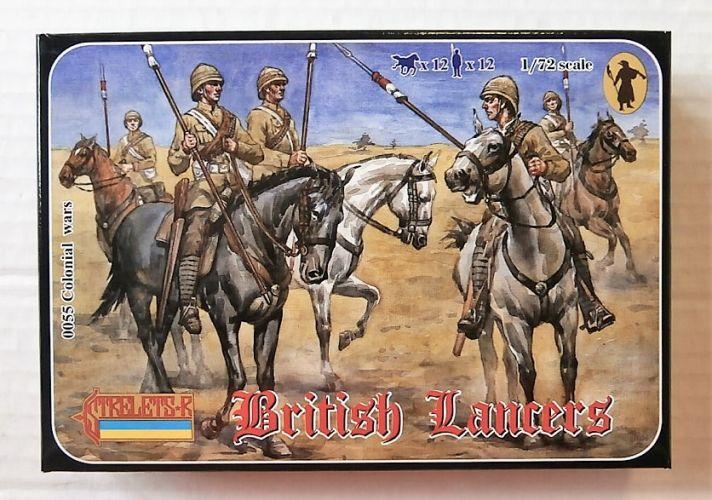 STRELETS 1/72 0055 BRITISH LANCERS ANGLO/ BOER WAR