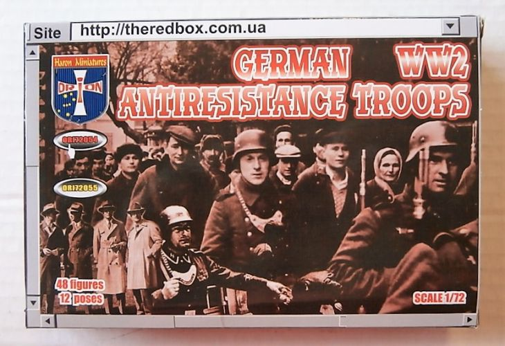 ORION 1/72 72054 GERMAN ANTI-RESISTANCE TROOPS WWII