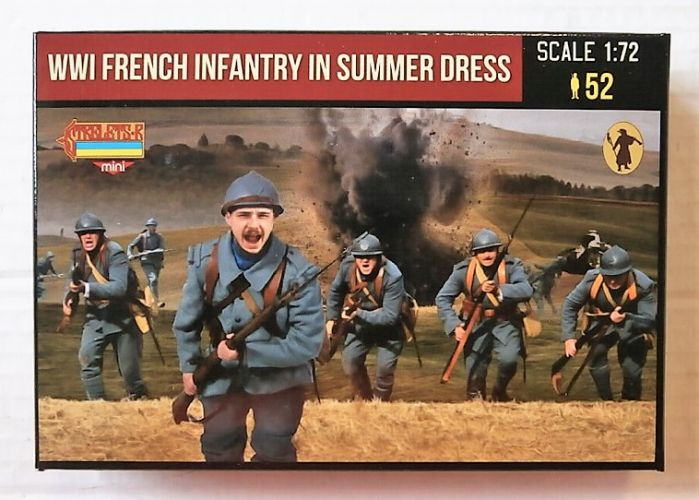 STRELETS 1/72 M134 WWI FRENCH INFANTRY IN SUMMER DRESS