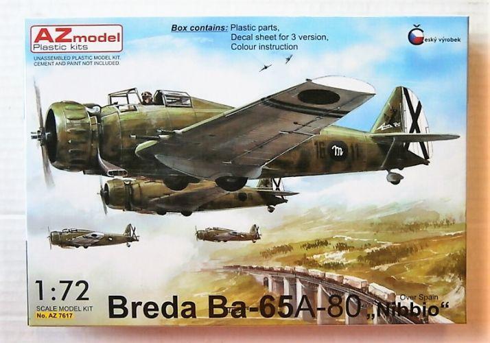 AZ MODEL 1/72 7617 BREDA BA-65 A-80 NIBBIO OVER SPAIN