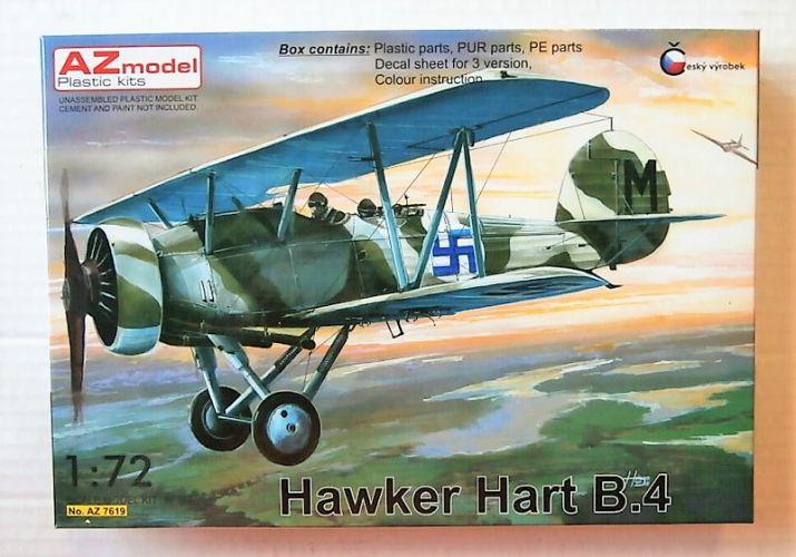 AZ MODEL 1/72 7619 HAWKER HART B.4  SWEDEN/ FINLAND/ ENGLAND TEST