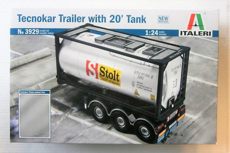 ITALERI 1/24 3929 TECNOKAR TRAILER WITH 20fT TANK
