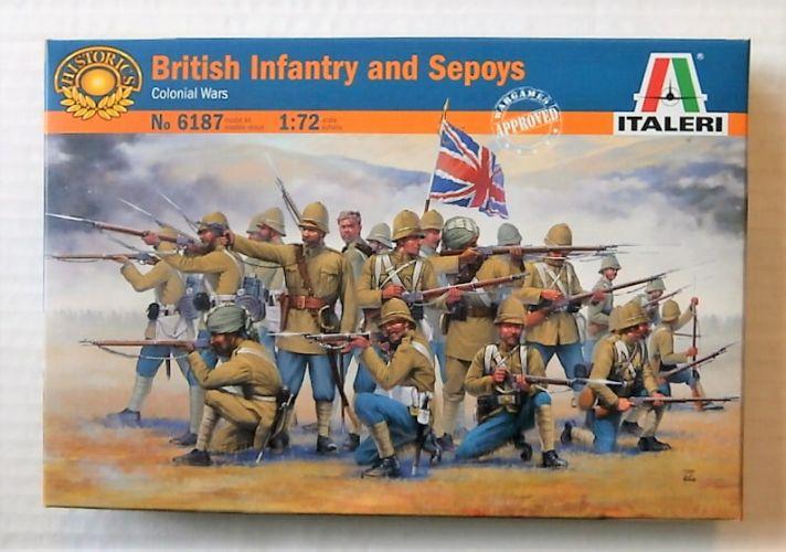 ITALERI 1/72 6187 BRITISH INFANTRY ANS SEPOYS