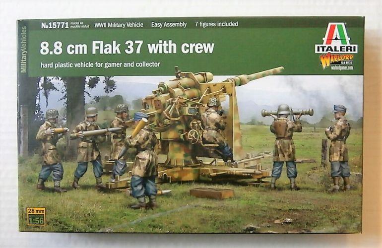ITALERI 1/56 15771 8.8cm FLAK 37 WITH CREW