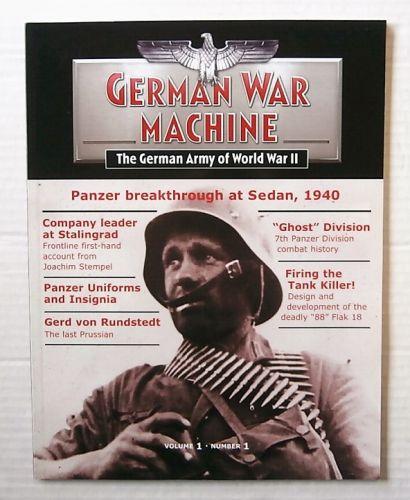CHEAP BOOKS  ZB3124 GERMAN WAR MACHINE THE GERMAN ARMY OF WORLD WAR II VOL 1 NUMBER 1