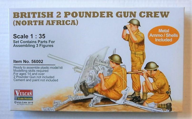 VULCAN 1/35 56002 BRITISH 2 POUNDER GUN CREW NORTH AFRICA