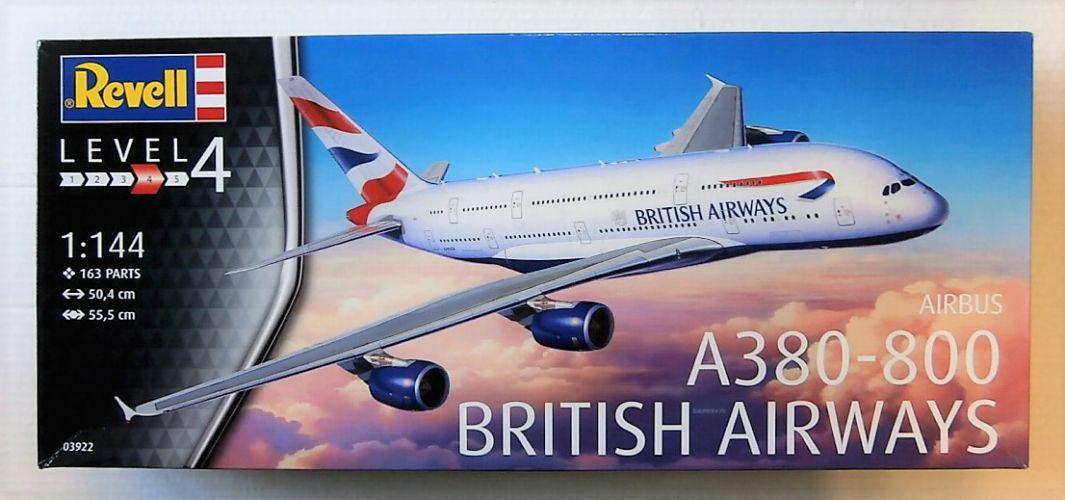 REVELL 1/144 03922 AIRBUS A380-800 BRITISH AIRWAYS