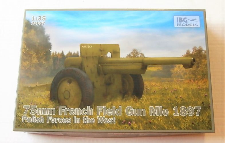 IBG MODELS 1/35 35057 75MM FRENCH FIELD GUN MLE 1897 POLISH FORCES IN THE WEST