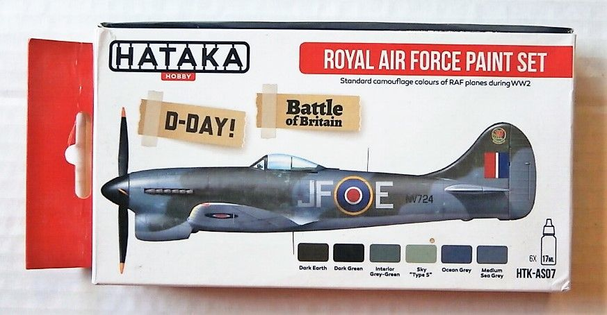HATAKA HOBBY  AS07 ROYAL AIR FORCE PAIN SET D-DAY/ BATTLE OF BRITAIN