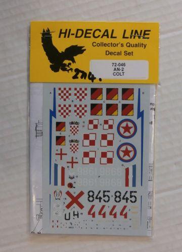 HI DECAL 1/72 2714. 72046 AN-2 COLT