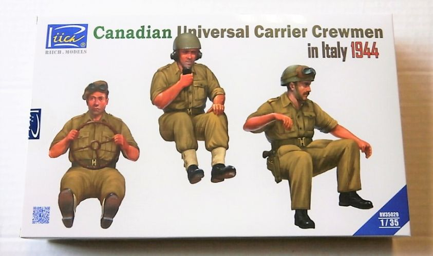RIICH 1/35 35029 CANADIAN UNIVERSAL CARRIER CREWMEN IN ITALY 1944