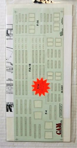 CAMDECALS 1/32 2391. 32-A001 FORMATION LIGHT PANELS F-4  F-14 AND F/A-18