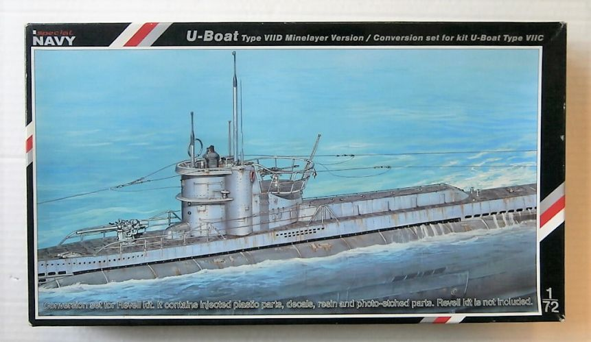SPECIAL NAVY 1/72 72005 U-BOAT TYPE VIID MINELAYER VERSION CONVERSION SET