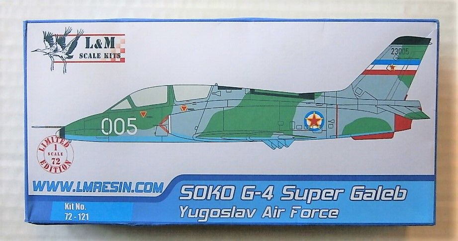 L M RESIN 1/72 72121 SOKO G-4 SUPER GALEB YUGOSLAV AIR FORCE