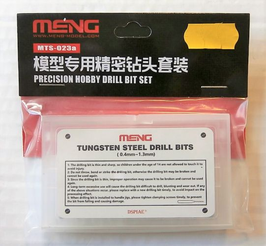 MENG  MTS-023A PRECISION HOBBY DRILL BIT SET  0.4mm-1.3mm