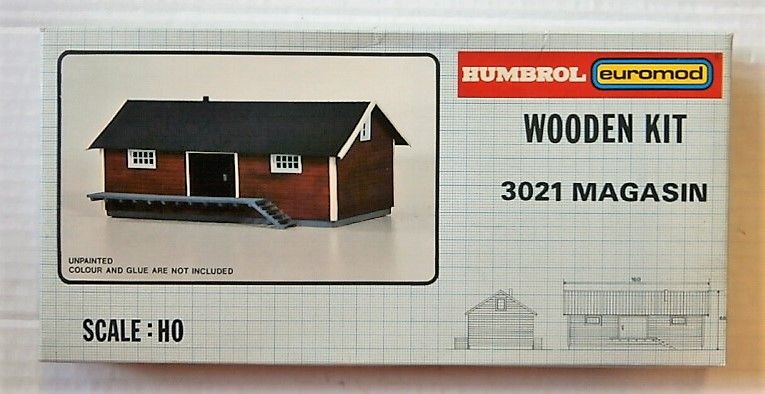HUMBROL HO 3021 MAGASIN  WOODEN KIT