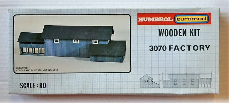 HUMBROL HO 3070 FACTORY  WOODEN KIT