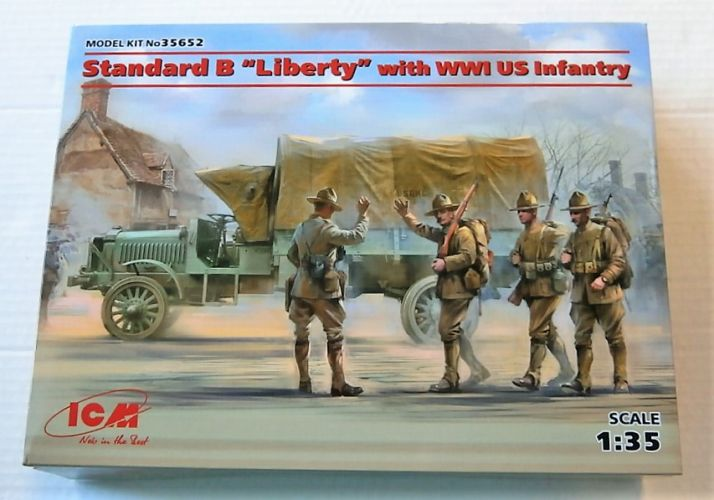 ICM 1/35 35652 STANDARD B LIBERTY WITH WWI US INFANTRY