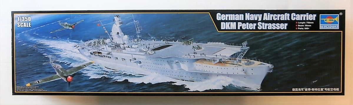 TRUMPETER 1/350 05628 GERMAN NAVY AIRCRAFT CARRIER DKM PETER STRASSER  UK SALE ONLY