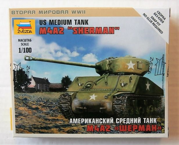 ZVEZDA 1/100 6263 M4A2 SHERMAN US MEDIUM TANK