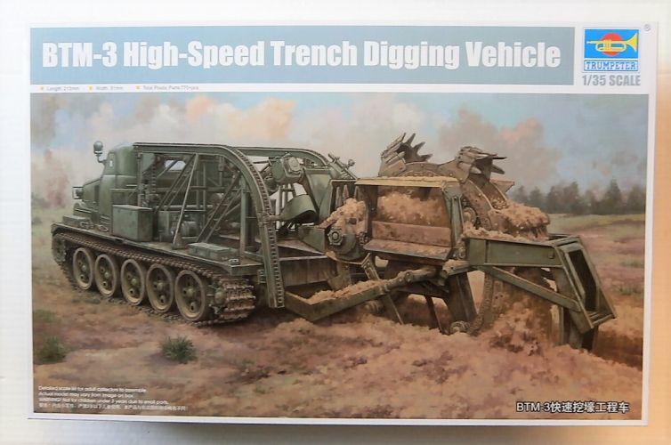 TRUMPETER 1/35 09502 BTM-3 HIGH SPEED TRENCH DIGGING VEHICLE