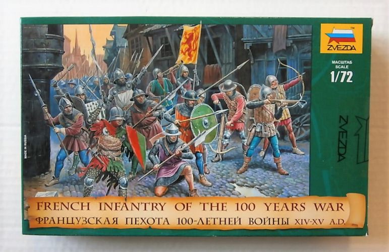 ZVEZDA 1/72 8053 FRENCH INFANTRY OF THE 100 YEARS WAR