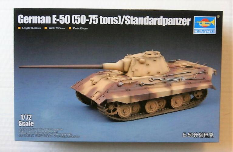 TRUMPETER 1/72 07123 GERMAN E-50  50-75 TONS  STANDARDPANZER
