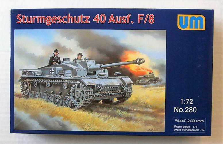 UNIMODEL 1/72 280 STURMGESCHUTZ 40 Auf F/8