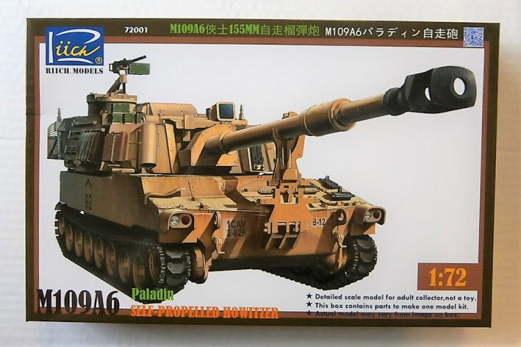RIICH 1/72 72001 M109A6 PALADIN SELF PROPELLED HOWITZER