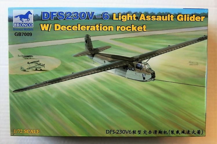 BRONCO 1/72 7009 DFS230V-6 LIGHT ASSAULT GLIDER WITH DECELERATION ROCKET