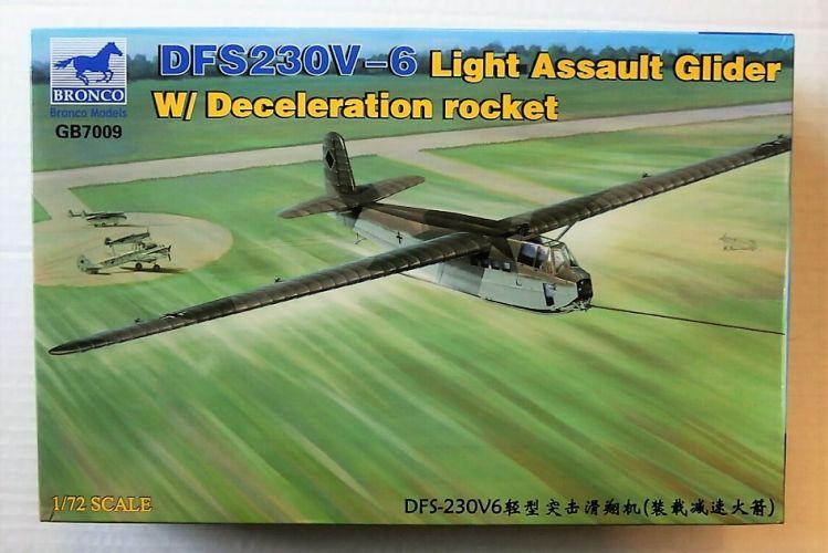 BRONCO 1/72 7009 DFS230V-6 LIGHT ASSAULT GLIDER WITH DECELERATION ROCKET