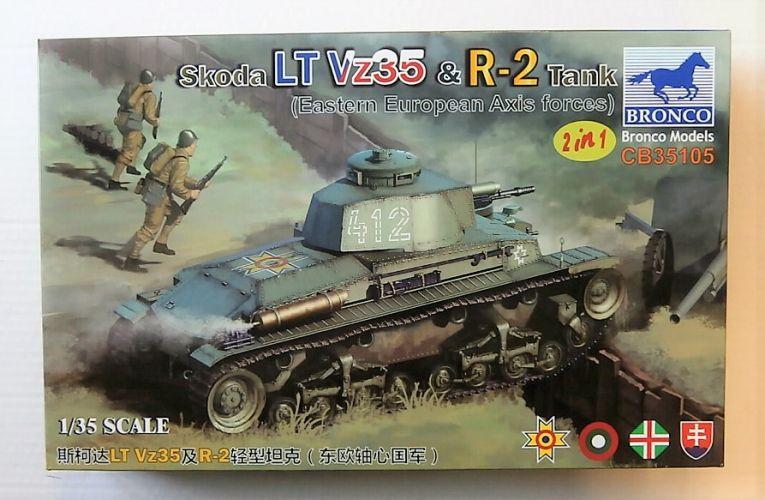 BRONCO 1/35 35105 SKODA LT Vz35   R-2 TANK EASTERN EUROPEAN AXIS FORCES