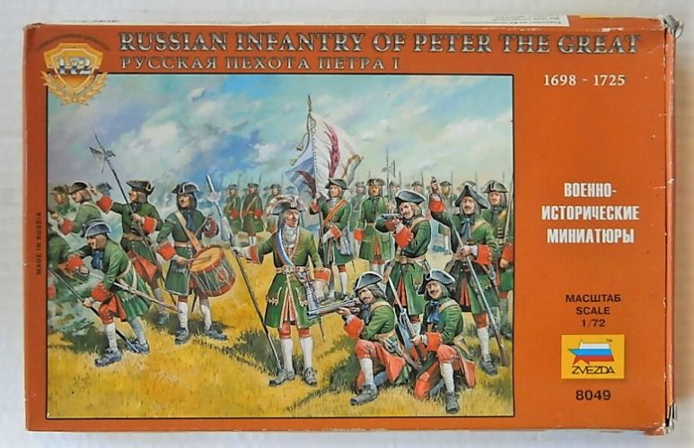 ZVEZDA 1/72 8049 RUSSIAN INFANTRY OF PETER THE GREAT 1698-1725