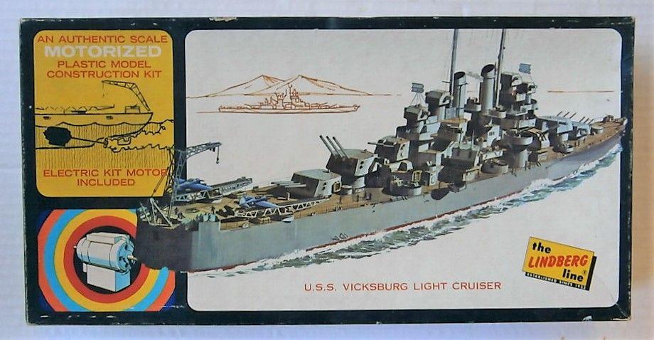 LINDBERG  7102M U.S.S. VICKSBURG LIGHT CRUISER