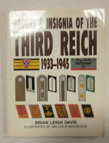 CHEAP BOOKS  ZB3346 BADGES AND INSIGNIA OF THE THIRD REICH 1933-1945