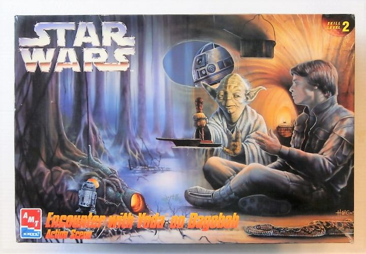 AMT/ERTL  8263 STAR WARS ENCOUNTER WITH YODA ON DAGOBAH ACTION SCENE  UK SCALE ONLY