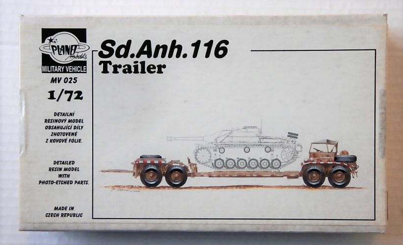 PLANET MODELS 1/72 MV025 Sd.Anh.116 TRAILER