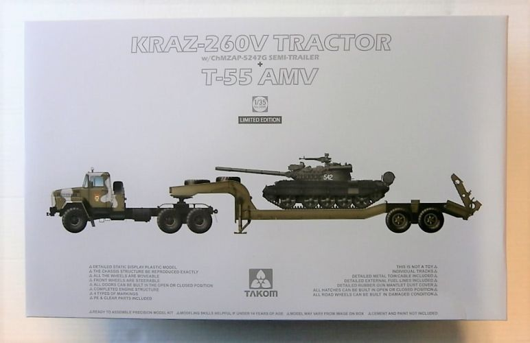 TAKOM 1/35 2095 KRAZ-260V TRACTOR W/ChMZAP-5247G SEMI TRAILER   T-55 AMV  UK SALE ONLY