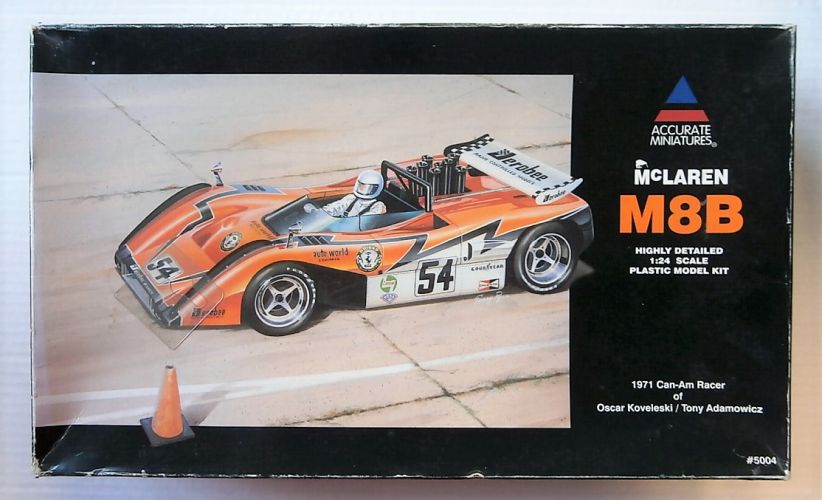 ACCURATE MINIATURES 1/24 5004 MCLAREN M8B 1971 CAN-AM RACER