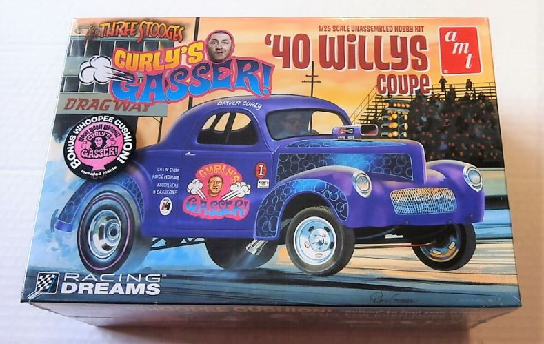 AMT 1/25 939 THE THREE STOOGERS CURLYS GASSER 1940 WILLYS COUPE