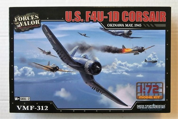 FORCES OF VALOR 1/72 873011A U.S. F4U-1D CORSAIR OKINAWA MAY 1945