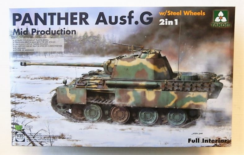 TAKOM 1/35 2120 PANTHER AUSF.G MID PRODUCTION WITH STEEL WHEELS 2  UK SALE ONLY