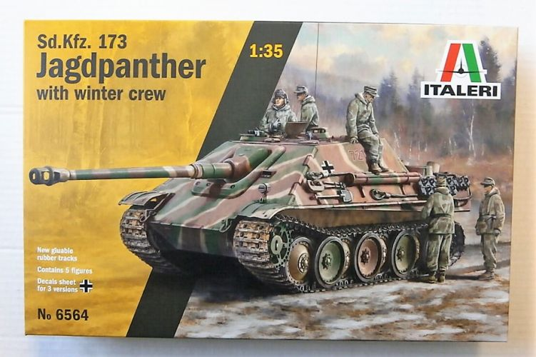 ITALERI 1/35 6564 SD.KFZ.173 JAGDPANTHER WITH WINTER CREW