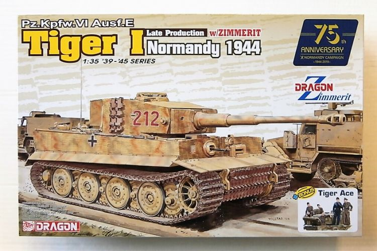 DRAGON 1/35 6947 TIGER I LATE PRODUCTION WITH ZIMMERIT NORMANDY 1944