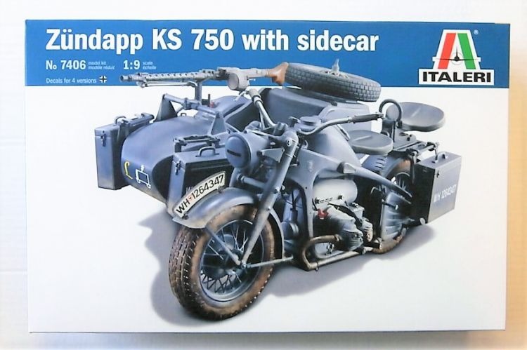 ITALERI 1/9 7406 ZUNDAPP KS 750 WITH SIDECAR