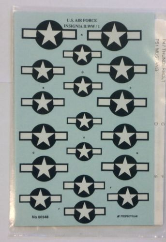 DISCOUNT DECALS 1/48 1509. PROPACTEAM 348 U.S. AIR FORCE INSIGNIA II.WW/1