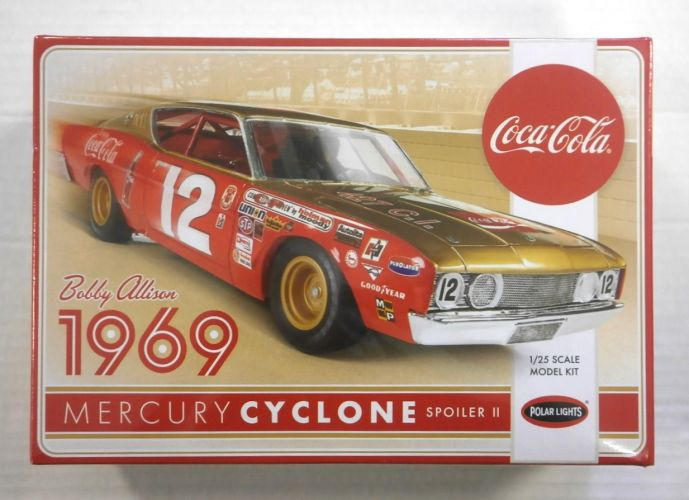 POLAR LIGHTS 1/25 948 BOBBY ALLISON 1969 MERCURY CYCLONE SPOILER II COCA-COLA