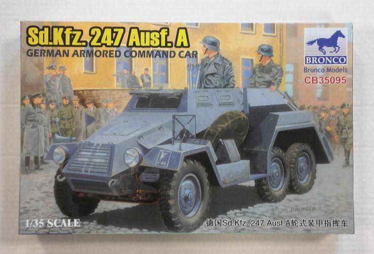 BRONCO 1/35 35095 GERMAN Sd.Kfz. 247 Ausf. A ARMOURED COMMAND CAR