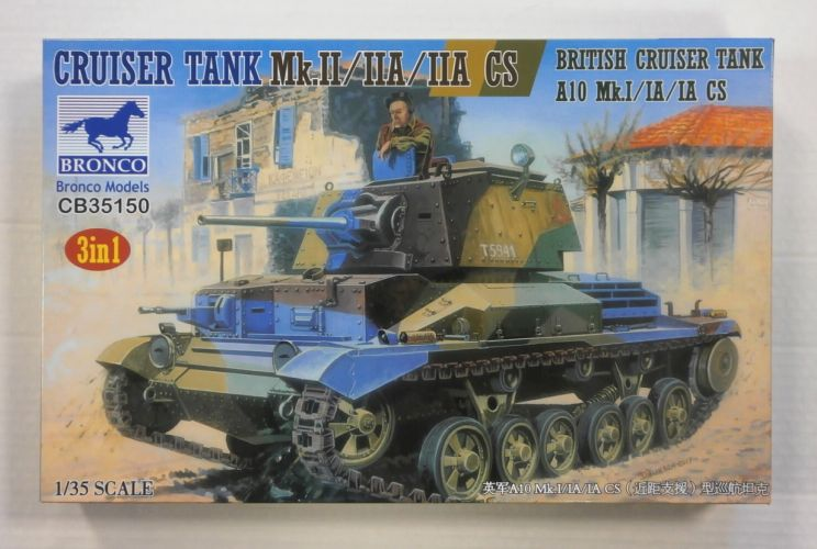 BRONCO 1/35 35150 BRITISH CRUISER TANK A10 Mk.II/IIA/IIA CS