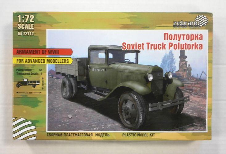 ZEBRANO 1/72 72112 SOVIET TRUCK POLUTORKA